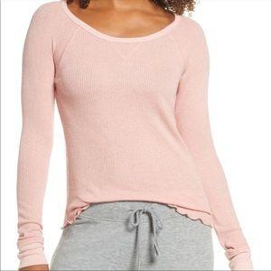 BP. Long Sleeve Thermal-Pink Tan-XS